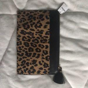 J. Crew leopard calf hair clutch- NWT!